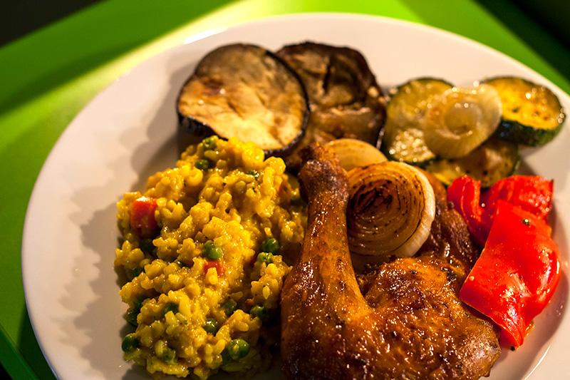 Restaurant Lika - Essen - Huhn & Gemüse