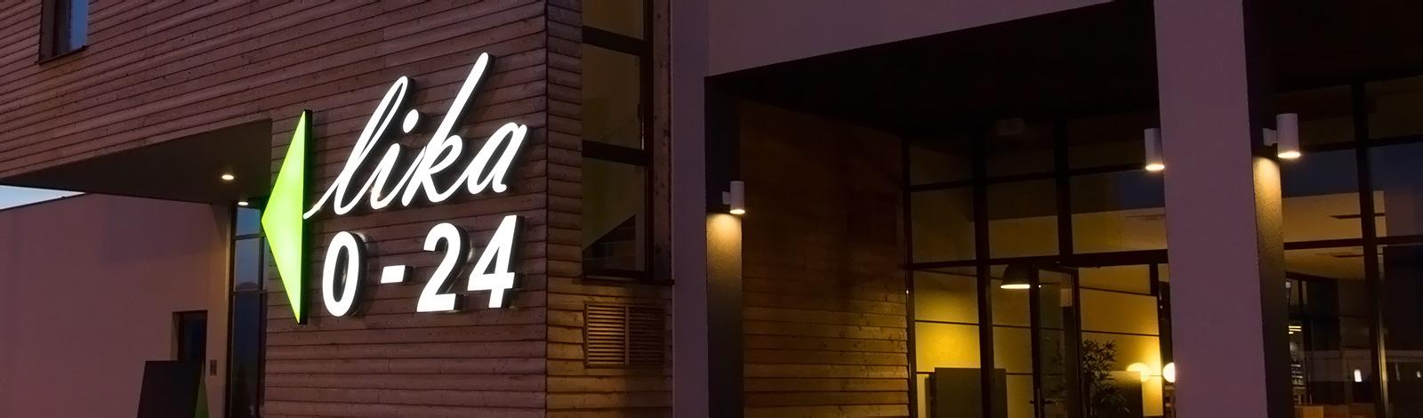 Restaurant Lika - Eksterijer u sumrak